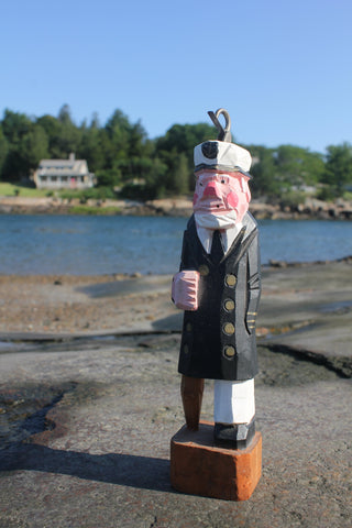 Wood Carved Sea Captain