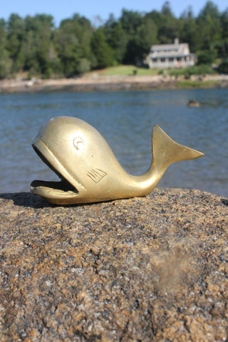 Vintage Brass Whale