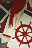THOMAS PAUL Nautical Flags Tea Towel