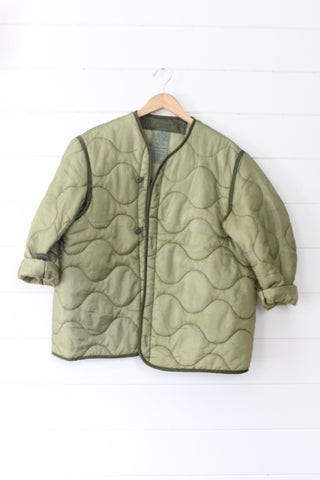 Vintage Quilted Field Coat Liner