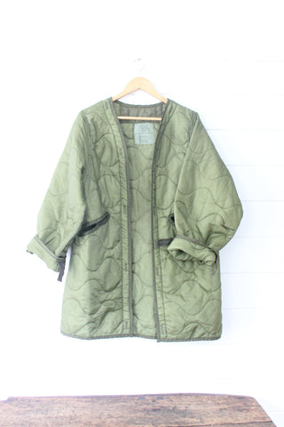 Vintage Quilted Parka Liner - Small