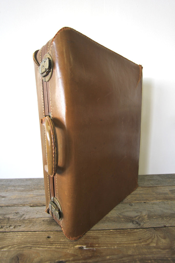 1950s Leather Suitcase