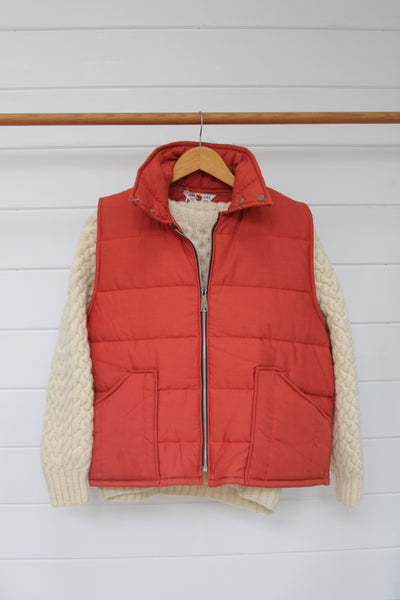 70s Tom Cat Orange Vest - Diamonds & Rust