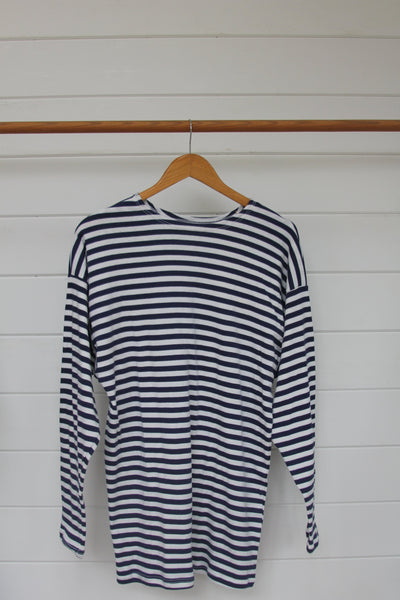 Navy Striped Shirt - Diamonds & Rust