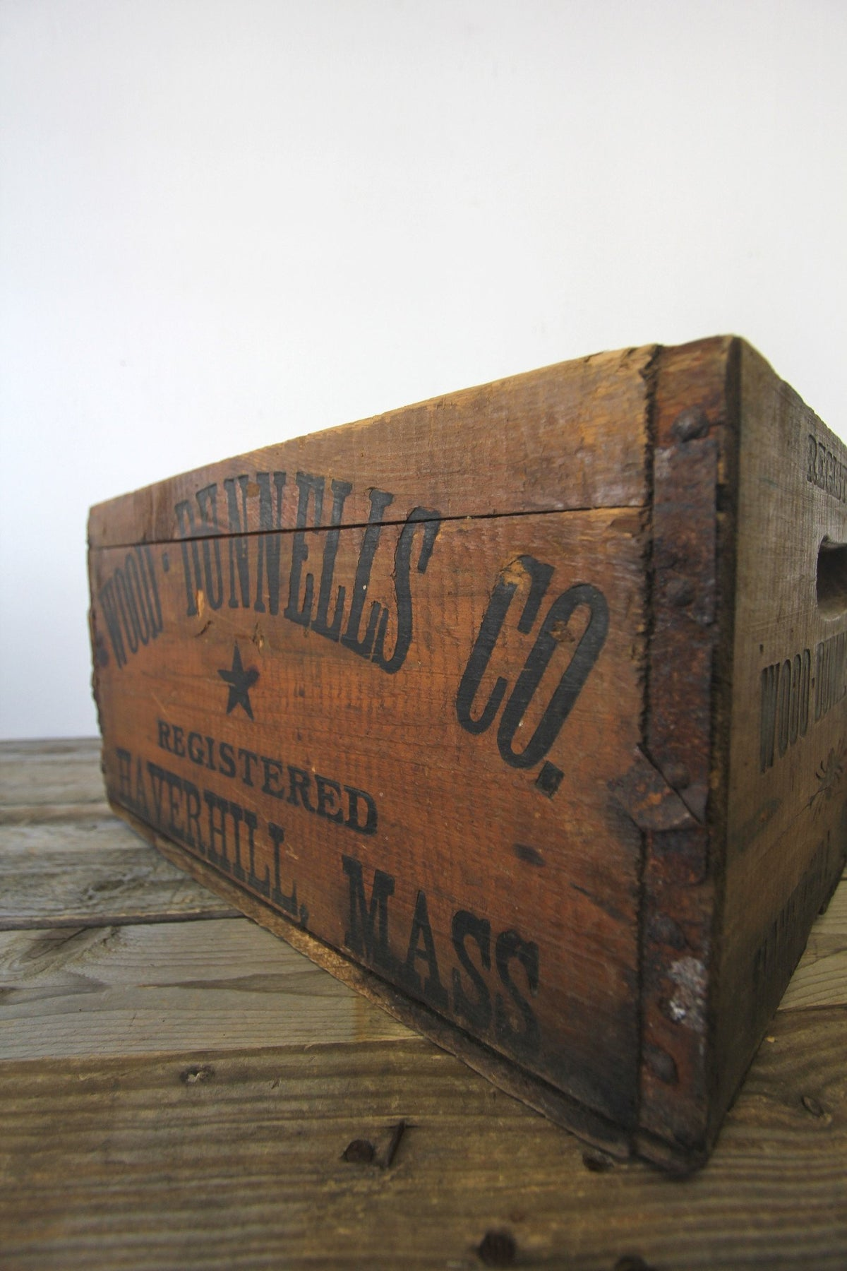 1920s Wood Dunnells Co. Crate - Diamonds & Rust