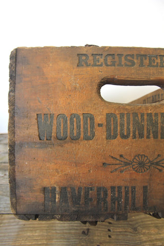 1920s Wood Dunnells Co. Crate