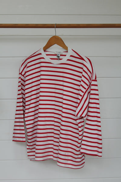 Red and White Striped Shirt - Diamonds & Rust