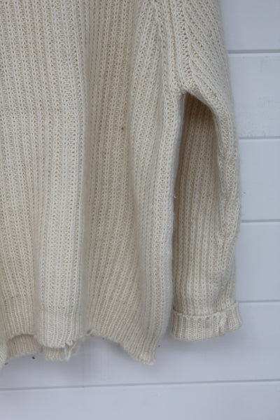 Vintage Wool Sweater - Diamonds & Rust