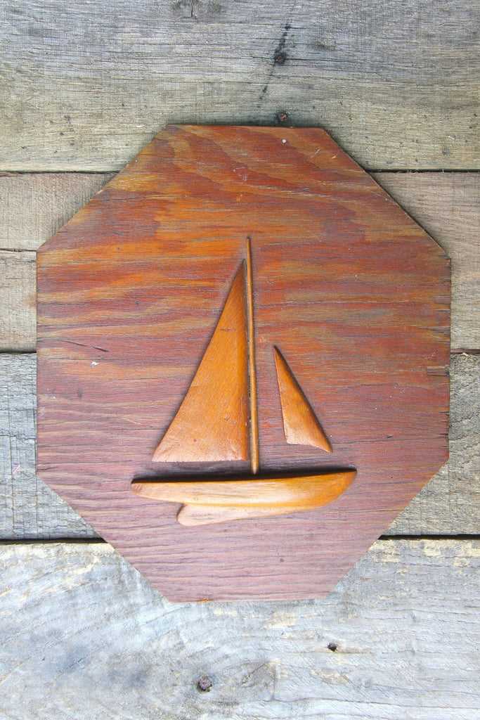 1950s Handmade Wood Sailboat