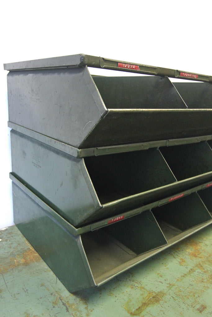 Industrial Metal Stacking Bins Made in USA by Stackbin