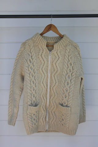 Vintage Fishemens Zip Up Sweater