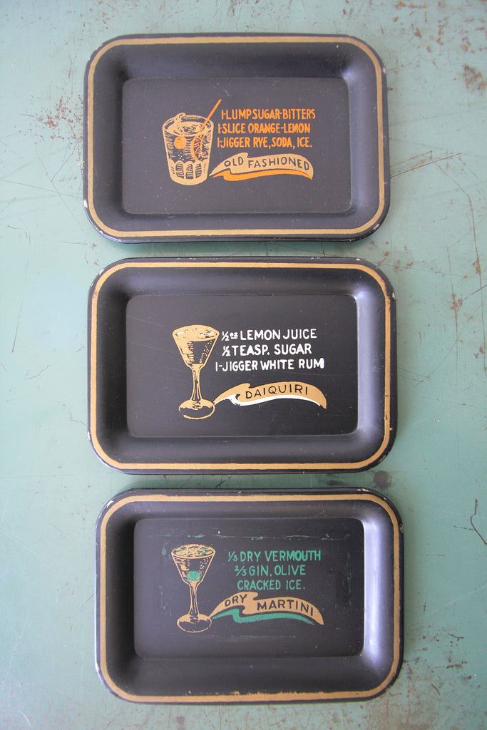 Set of 3 Cocktail Coasters