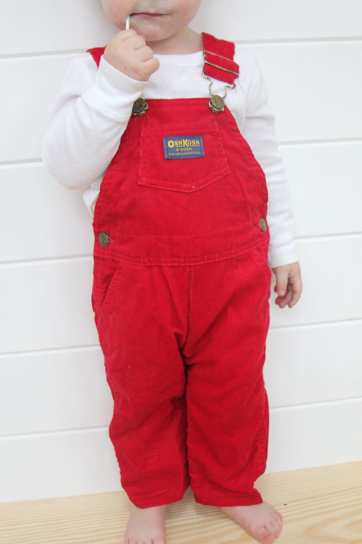 Vintage OshKosh Red Overalls - Diamonds & Rust