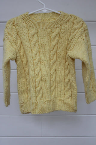 Vintage Kid's Cable Knit Sweater