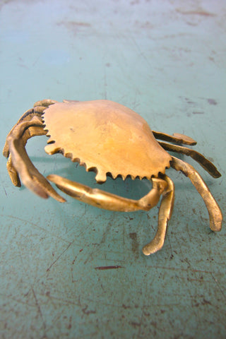 Brass Crab Ashtray