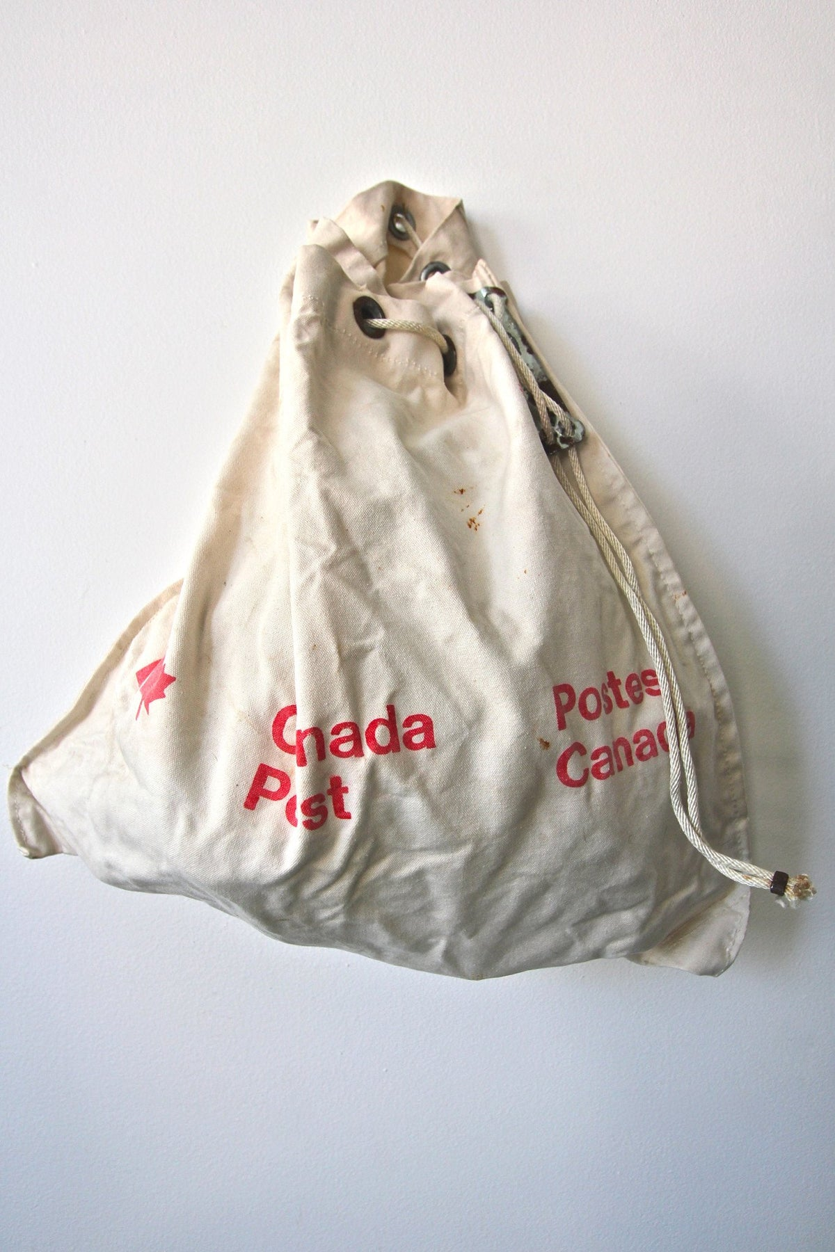 1980 Canada Post Canvas Mail Bag - Diamonds & Rust