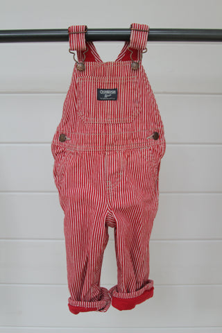 Vintage OshKosh Red Striped Overalls