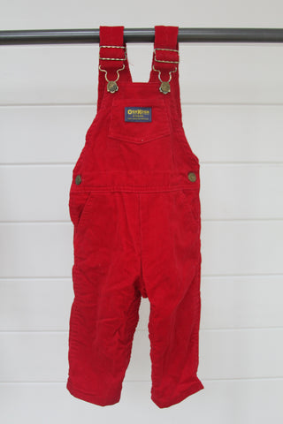 Vintage OshKosh Red Overalls