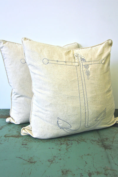 "THOMAS PAUL Anchor 22"" Pillow"