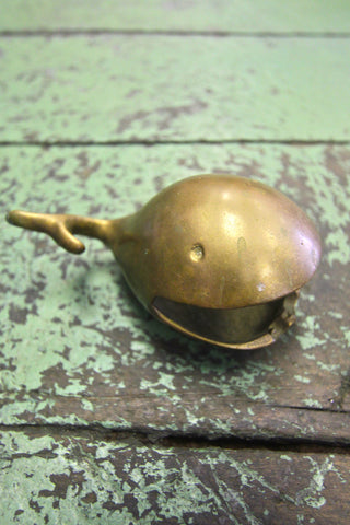 Brass Whale Ashtray