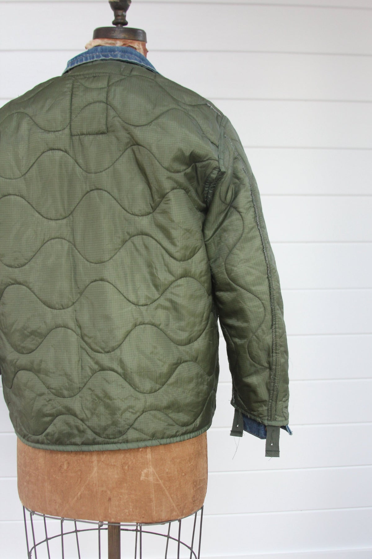 Vintage Quilted Liner Coat - Diamonds & Rust