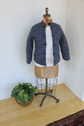Vintage Floral Quilted House Coat