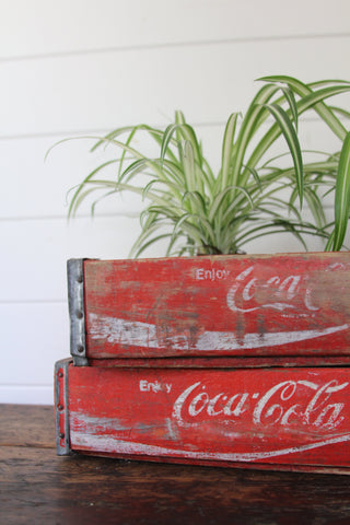Coca Cola Wood Crate A