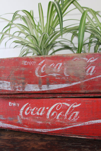 Coca Cola Wood Crate A - Diamonds & Rust