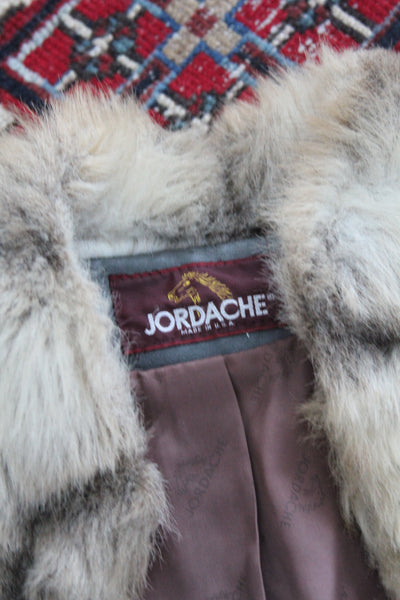 Jordache Faux Fur Coat - Diamonds & Rust