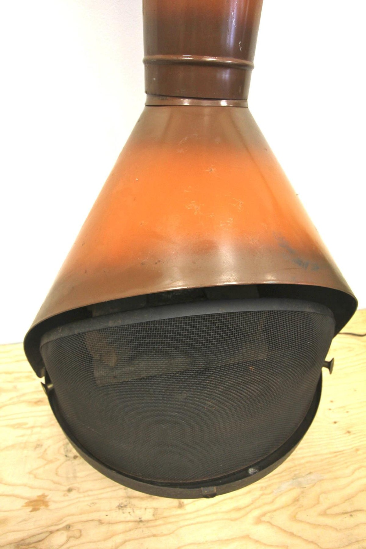 1960s Orange Cone Fireplace - Diamonds & Rust