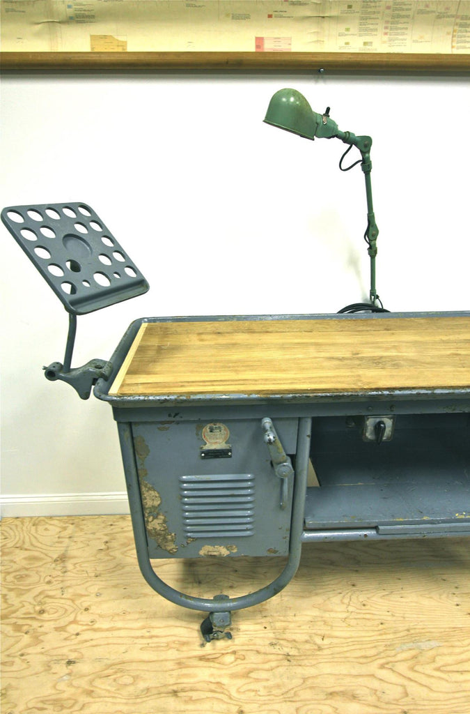 Repurposed Industrial Lathe Table
