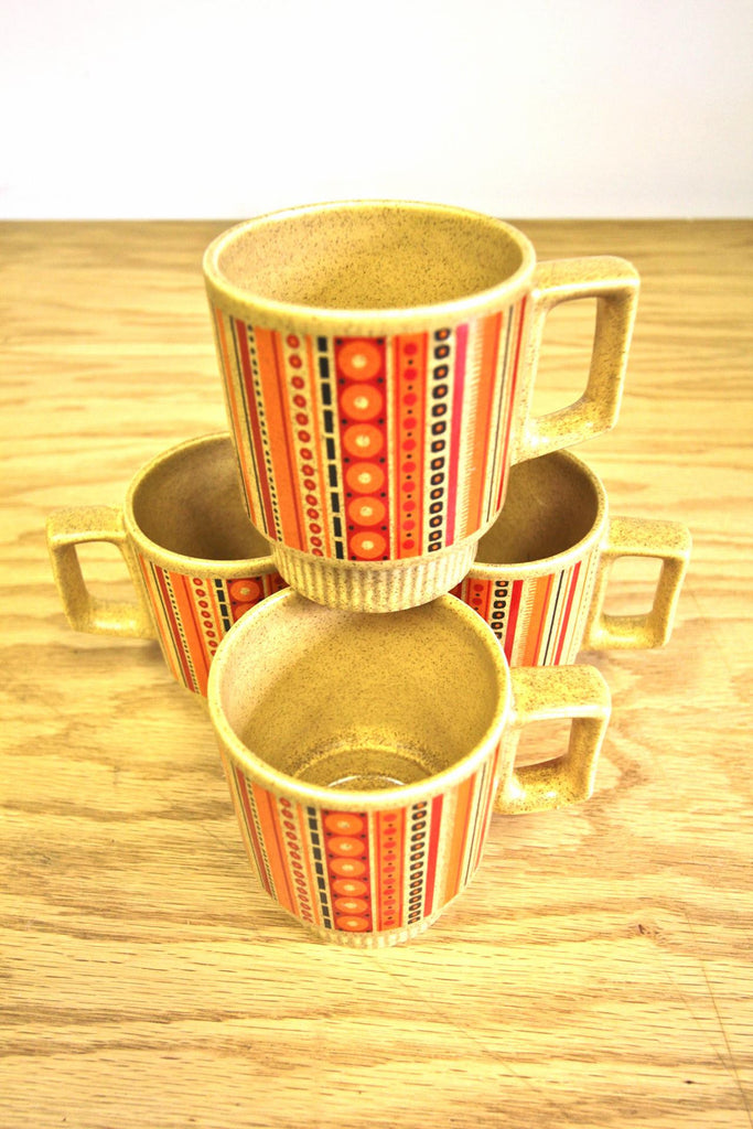 Set of 4 Vintage Coffee Mugs
