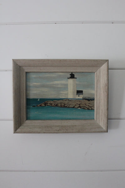 Annisquam Lighthouse Painting - Diamonds & Rust