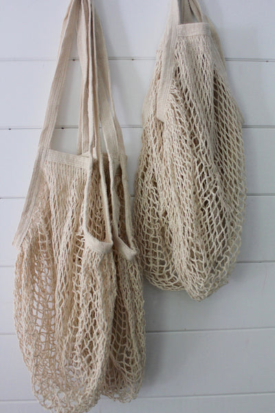Natural Net Bag: Shoulder - Diamonds & Rust