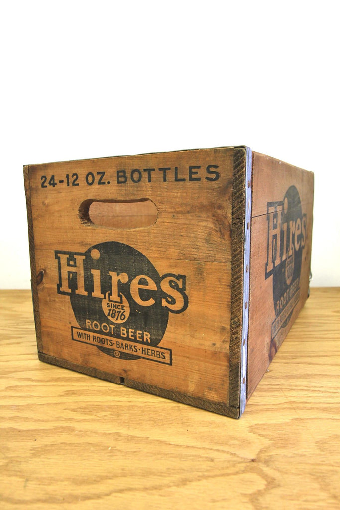 Hires Root Beer Wood Crate