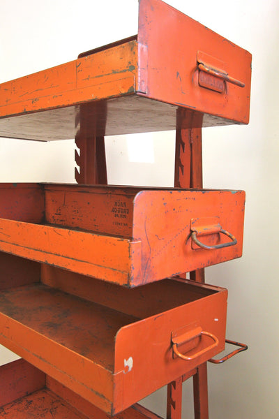 1940s Rack Eng'g Industrial Shelving - Diamonds & Rust