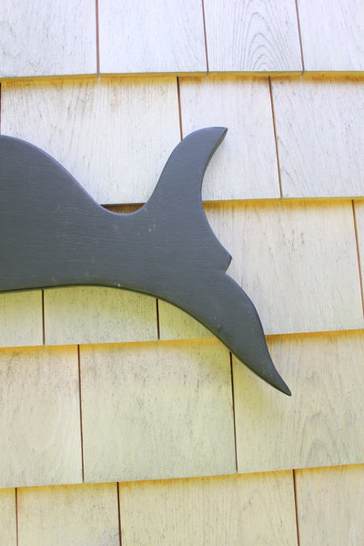 Wooden Whale Wall Hanging - Diamonds & Rust