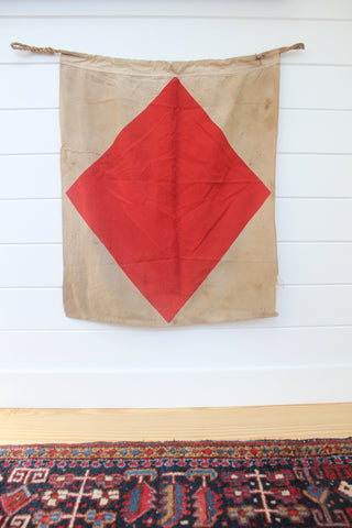 "Vintage Nautical ""F: Foxtrot"" Signal Flag"