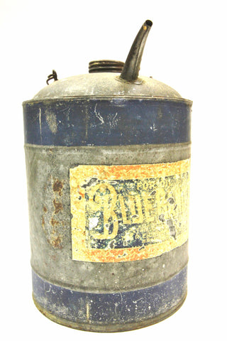 Vintage Blue Band Fuel Can