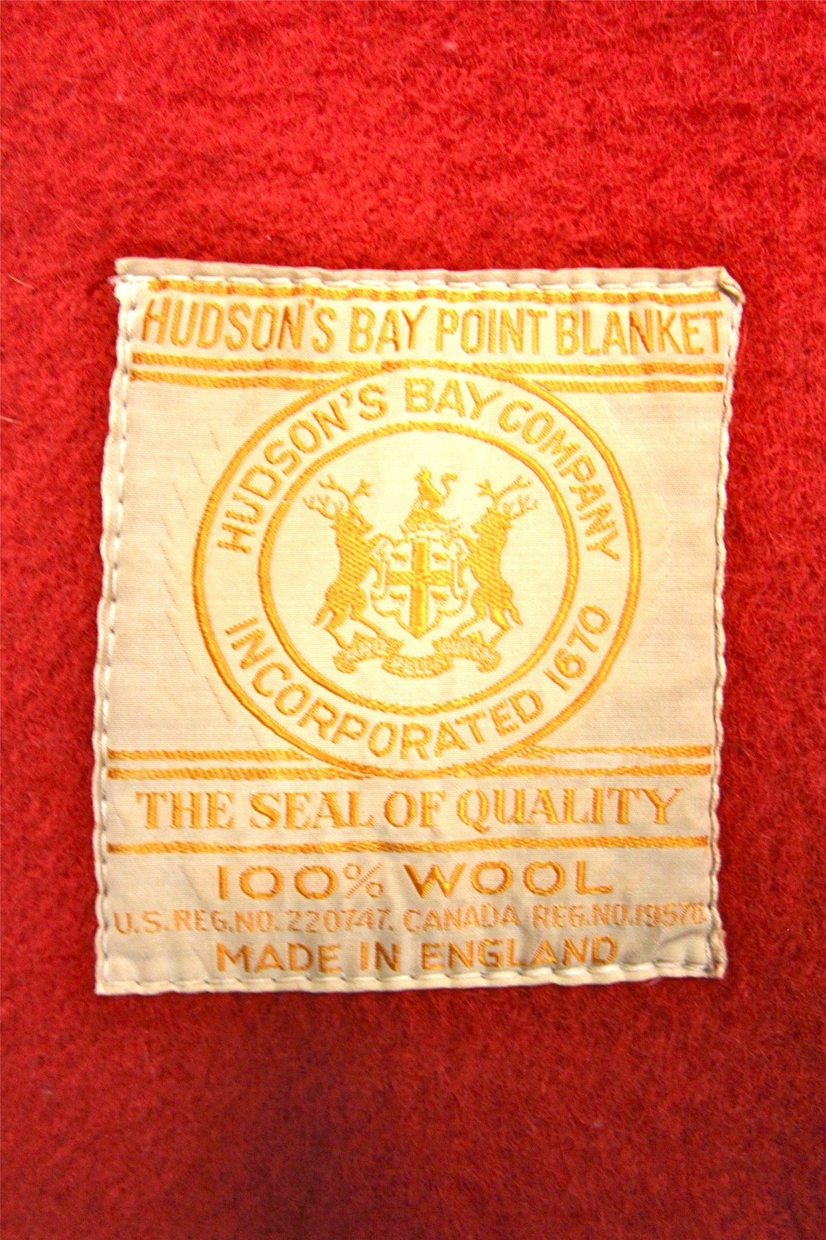 1950s Hudson's Bay Point Blanket - Diamonds & Rust