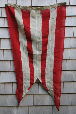 Nautical Signal Flag: Red & White Striped