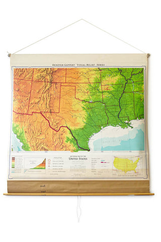 Sectional Map of the US: Texas