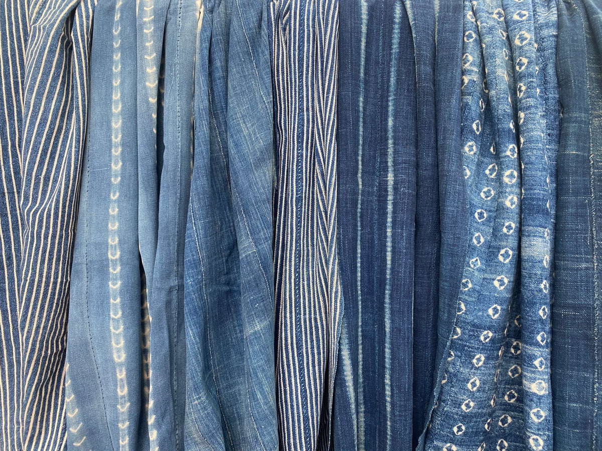 Vintage Indigo Textile: Striped 4