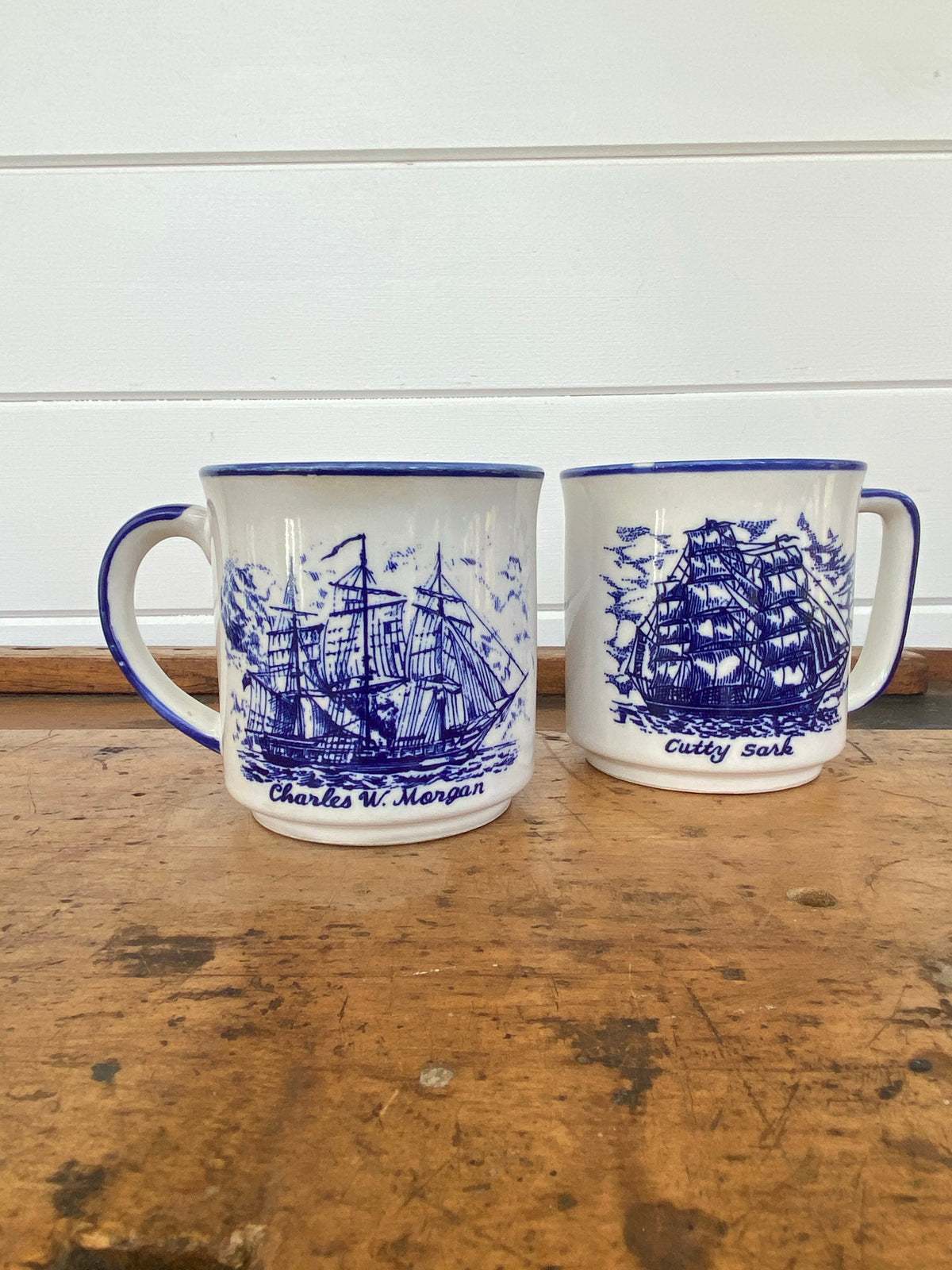 Pair of Clipper Ship Mugs