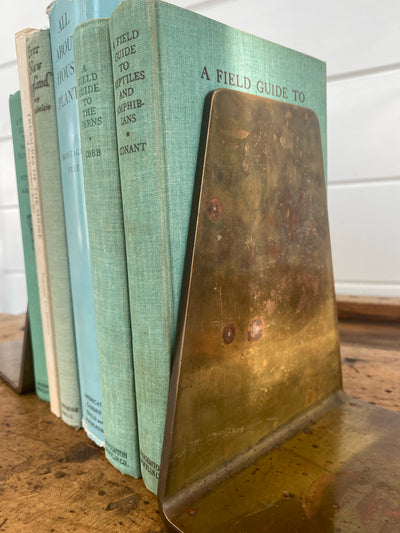 Vintage Brass Bookends