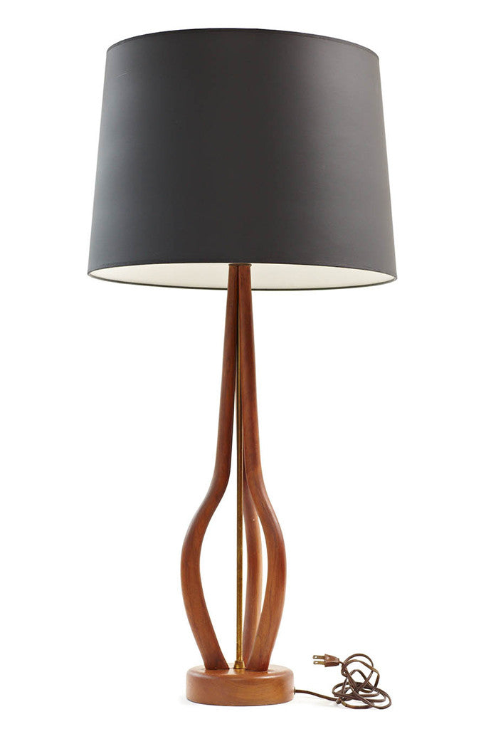 60s Teak Table Lamp