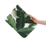 OLIVIA Clutch in Palm Print / Laptop Case