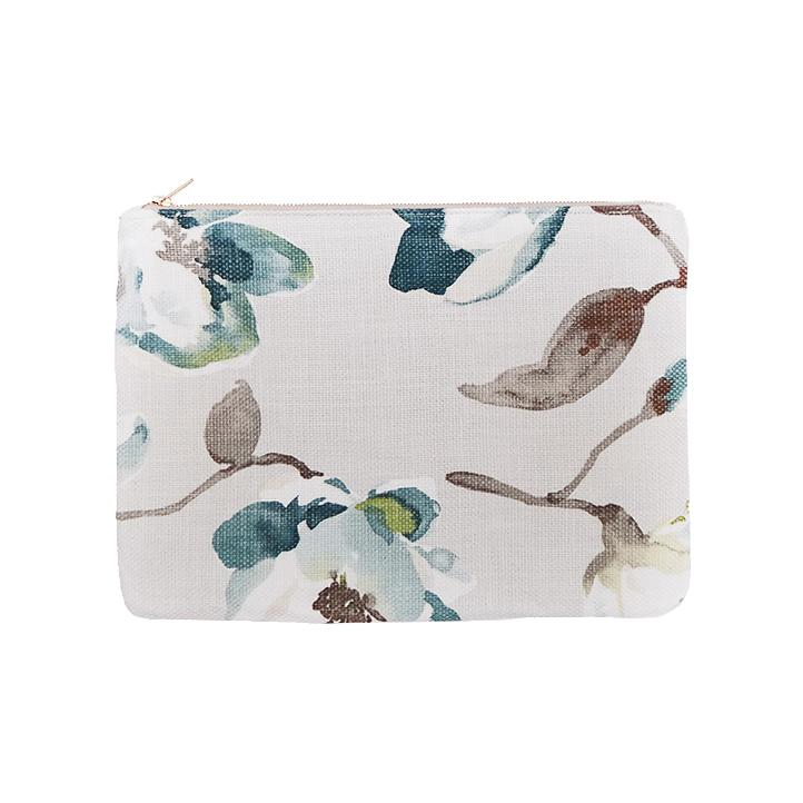 OLIVIA Clutch in Watercolor Blossoms / Laptop Case