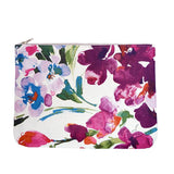 OLIVIA Clutch in Watercolor Orchid / Laptop Case