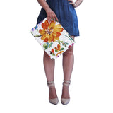 OLIVIA Clutch in Honey Yellow Watercolor Floral / Laptop Case